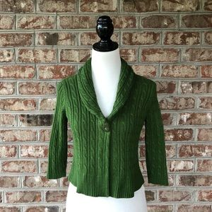 🌴 LOFT Ann Taylor Cable Knit Cardigan Sweater PM